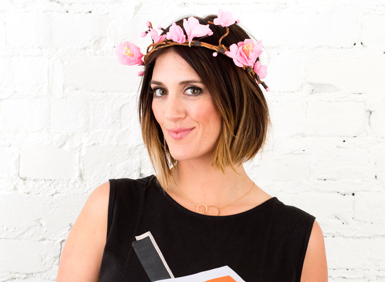 How to Make a Cherry Blossom Flower Crown | Brit + Co