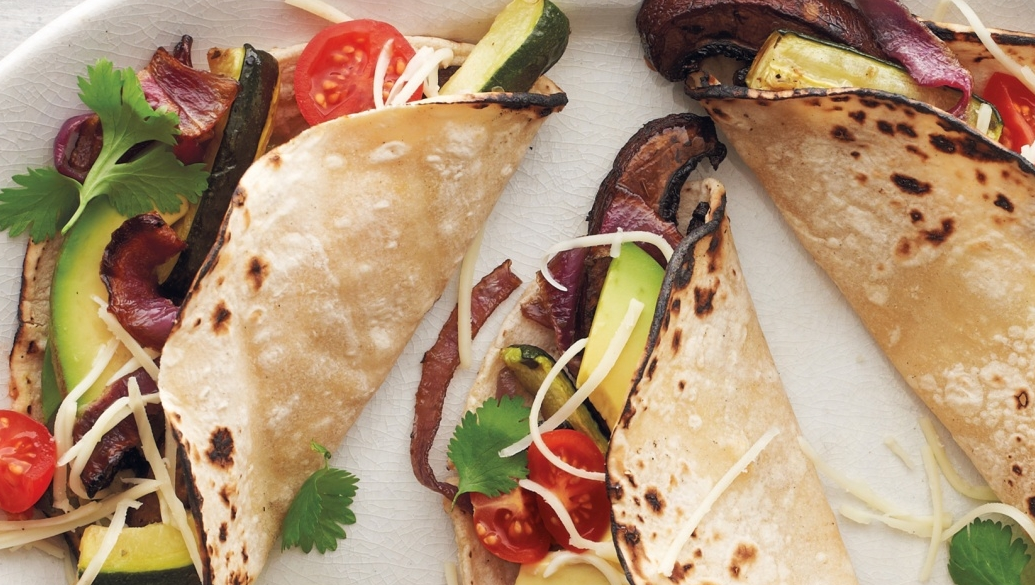 Portobello-and-Zucchini Tacos Recipe - Archetypes